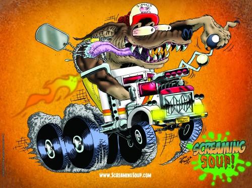 ScreamingSoup16x12posterBrotherTruckerPeyote